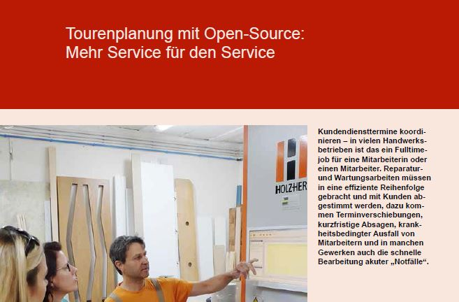 Optimierte Tourenplanung mit Open Source